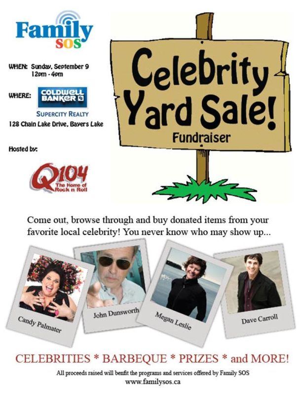 Family SOS Celebrity Yard Sale