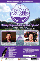 Official Poster with Wab Kinew and Candy Palmater - Candy hosted and spoke at the event.