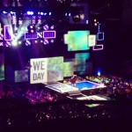 Candy delivering a powerful message to 8000 students on the center stage of WeDay 2013
