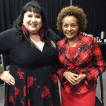 Candy with the right honorable Michaelle Jean back stage at WeDay 2013