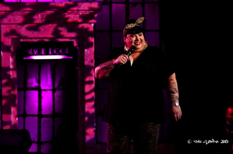 The Writer/ Creator and Host of The Candy Show, performing open monologue in front of a live studio audience. Season 4, airing every WEDNESDAY night on APTN and APTN HD Channels