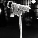 Candy's blinged Mic and stand
