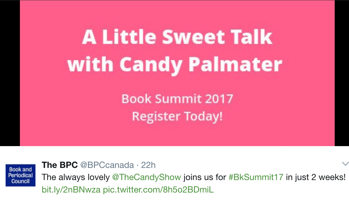 Toronto Book Summit June 15th, 2017