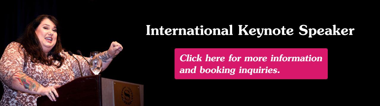 International Keynote Speaker (Contact us for bookings)